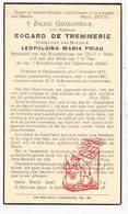 DP Edgard De Tremmerie ° Oudenaarde 1874 † 1937 X Leopoldina M. Priau / OLV Halle - Andachtsbilder