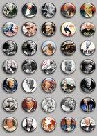 Johnny Hallyday Music Fan ART BADGE BUTTON PIN SET (1inch/25mm Diameter) 35 DIFF 3 - Music