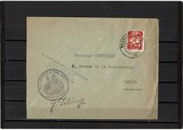 LCA7- HOUILLERE 15f SEUL SUR LETTRE DU HAUT COMMISSARIAT DE LA REPUBLIQUE 25/1/1951 - 1947-56 Occupazione Alleata