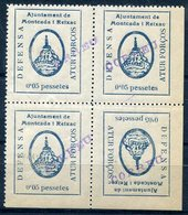 LOCALES    Montcada I Reixac     Nº 8-8b    Bloque-sin Charnela  -479 - Spanish Civil War Labels
