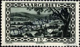 Saarland D23 Postfrisch 1929 Landschaften IV - Dienstmarken