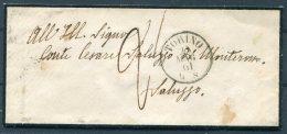 1861 Italy Mourning Cover Torino - Saluzzo. Taxed 2 - Non Classés