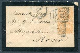 1875 Italy Mourning Cover Livorno - Roma - Non Classés