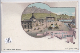 LU- LUZERN- GRUSS AUS LUZERN- RARE LITHO - LU Luzern