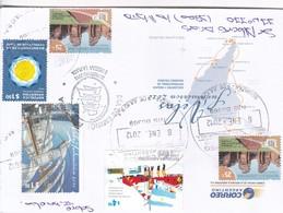FDC ENCUENTRO GRANDES VELEROS OBLIT 9 DE JULIO 2012. MIXED STAMPS: 110 AÑOS EN ANTARTIDA, RUINAS SAN IGNACIO MINI- BLEUP - Argentina