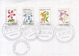 SOBRE OBLITERE BUENOS AIRES FDC 1982. FLORES FLOWERS FLEURES STAMPS- BLEUP - FDC