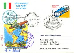 Ballonpost 1991 Aerogramme Illustre Par Ballon De Udine. - 1946-.. République