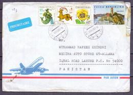 Czech Republic To Pakistan Used Traveled Cover (EN-09) - Czech Republic