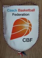 Pennant Basketball Federation Of CZECH Republic 200 X 250 Mm - Apparel, Souvenirs & Other