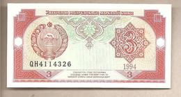 Uzbekistan - Banconota Non Circolata Da 3 Sum P-74a - 1994 - Uzbekistan