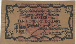 INDES NEERLANDAISES   SUMATRA   100 Dollars  1899 - Indonesia