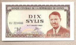 Guinea - Banconota Non Circolata FdS Da 10 Sylis P-16 - 1971 - Guinea