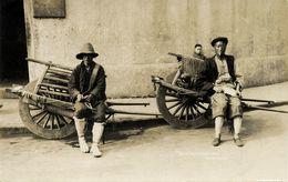 China, SHANGHAI, Native Chinese Wheelbarrows (1910s) RPPC Postcard - China