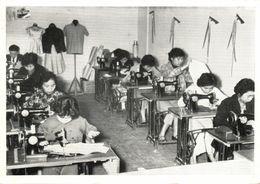 China, HONG KONG, Chinese Lutheran Tailor Class Sewing Machine (1957) Red Cancel - China (Hong Kong)