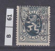 BELGIO  1929Stemma Araldico 5 C Usato - 1929-1937 Heraldic Lion