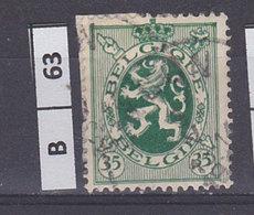 BELGIO  1929Stemma Araldico 35 C Usato - 1929-1937 Heraldic Lion