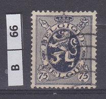 BELGIO  1929Stemma Araldico 75 C Usato - 1929-1937 Heraldic Lion