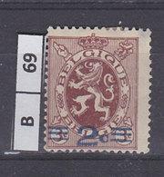 BELGIO  1931Stemma Araldico Soprast. 2 Su 3 Usato - 1929-1937 Heraldic Lion
