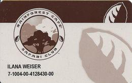 Rainforest Cafe Safari Club Card - Customer Loyalty Card - Other