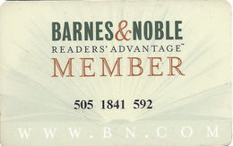 Barnes & Noble - Customer Loyalty Card - Other Collections