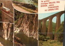 CARTE POSTALE  DE LA PITTORESQUE VALLEE DU DOUX - TRAINS - Trains