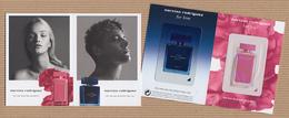 CC Carte Parfumée 'NARCISO RODRIGUEZ' EDP FLORAL & PARFUM BLEU NOIR Perfume Card - Perfume Cards