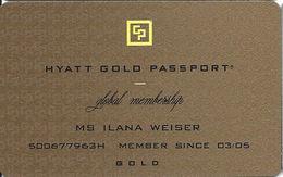 Hyatt Gold Passport Global Membership Card - Other