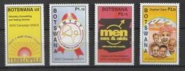 Bostwana 2002, AIDS Campaign 4v Mnh - Botswana (1966-...)
