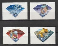 Bostwana 2001, Diamond Industry 4v  Mnh - Botswana (1966-...)
