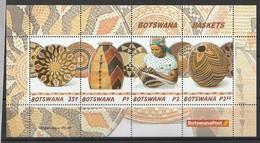 Bostwana 2001, Handicrafts S/s Mnh - Botswana (1966-...)