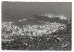 Cpsm: MONTE CARLO - MONACO Le Port Et Le Rocher Vus De La Turbie   N° 827  (rare) - Monaco