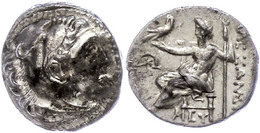 2 Mylasa, Drachme (4,14g), 336-323 V. Chr., Alexander III. Av: Herakleskopf Mit Löwenfell Nach Rechts. Rev: Thronender Z - Antique