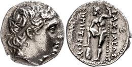 4 Pella, Tetradrachme (16,15g), 289-288 V. Chr., Demetrius Poliorketes. Av:  Kopf Nach Rechts Mit Diadem. Rev: Poseidon  - Antique