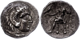 5 Makedonien, Sidon,Tetradrachme (15,90g), 313-312 V. Chr., Alexander III., Av: Herakleskopf Mit Löwenfell Nach Rechts,  - Antique