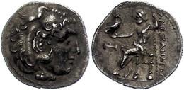 6 Makedonien, Myalasa?, Drachme (4,00g), 300-280 V. Chr., Alexander III., Av: Herakleskopf Mit Löwenfell Nach Rechts, Re - Antique