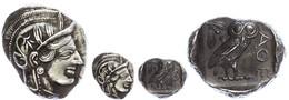 13 Athen, Tetradrachme (17,22g), Ca. 403-365 V. Chr., Av: Athenekopf Mit Attischem Helm Nach Rechts, Rev: Eule Nach Rech - Antique