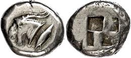 15 Kyzikos, Elektron Stater (15,93g), Ca. 550-500 V. Chr. Av: Ziegenkopf Nach Rechts, Dahinter Thunfisch. Rev: Quadratum - Antique