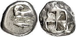 17 Kyzikos, Elektron Stater (16,03g), Ca. 500-450 V. Chr. Av: Widder Auf Thunfisch. Rev: Quadratum Incusum. SNG Von Aulo - Antique
