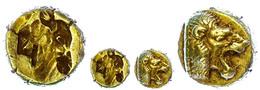 20 Myletene, Elektron Hekte (2,43g), Ca. 480-450 V. Chr. Av: Löwenprotome Nach Rechts. Rev: Incuser Kalbskopf Nach Links - Antique
