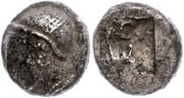 23 Trihemiobol (1,25g), Ca. 6. Jhd. V. Chr. Av: Kopf Nach Links. Rev: Viergeteiltes Incusum. SNG Von Aulock 1813ff, Ss.  - Antique