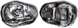 25 Stater (10,49g), 561-546 V. Chr., Kroisos, Sardeis. Av: Löwen Und Stierprotome Einander Gegenüber. Rev: Zwei Quadrati - Antique