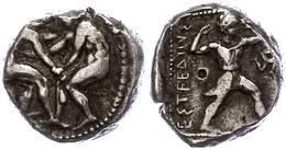 31 Aspendos, Stater (10,87g), Ca. 4./3. Jhd V. Chr. Av: Zwei Ringer. Rev: Schleuderer Nach Rechts, Rechts Triskele, Link - Antique