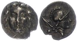 32 Selge, Obol (0,74g), Ca. 300-190 V. Chr. Av: Gorgoneion. Rev: Athenakopf Nach Rechts, Dahinter Lanzenspitze Und Astra - Antique