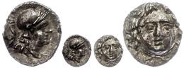 33 Selge, Obol (0,78g), Ca. 300-190 V. Chr. Av: Gorgoneion. Rev: Athenakopf Nach Rechts, Dahinter Astragalos. SNG Von Au - Antique