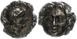 34 Selge, Obol (0,83g), 300/190 V. Chr.. Av: Gorgoneion. Rev: Athenakopf. SNG Von Aulock 5278, Vz.  Vz - Antique