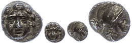 35 Selge, Obol (0,83g), Ca. 300-190 V. Chr. Av: Gorgoneion. Rev: Athenakopf Nach Rechts, Dahinter Astragalos. SNG Von Au - Antique