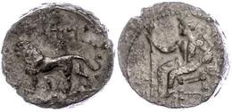 46 Stater (10,06g), 361-334 V. Chr., Mazaios. Av: Thronender Baaltars Mit Zepter Nach Links. Rev: Löwe Nach Rechts, Darü - Antique