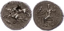 47 Tarsus, Stater (10,76g), Mazaios, Ca. 361-334 V. Chr. Av: Thronender Baaltars Mit Adler, Ähre Und Weinrebe. Rev: Löwe - Antique