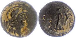 49 Seleukeia Ad Calykadnum, AE (6,60g), Ca. 2./1. Jhd. V. Chr. Av: Behelmter Athenakopf Nach Rechts, Dahinter Buchstaben - Antique