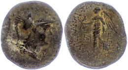 51 Seleukeia Ad Calykadnum, AE (8,35g), Ca. 2./1. Jhd. V. Chr. Av: Behelmter Athenakopf Nach Rechts, Dahinter Buchstaben - Antique